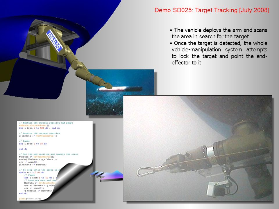 Demo SD025: Target Tracking [July 2008]